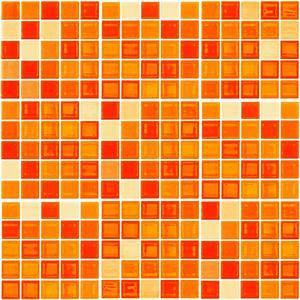 9 stickers carreaux de ciment mosaiques nuance orange With carreaux de mosaique