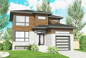 Northwest, House, Plan, With, Contemporary, Influences