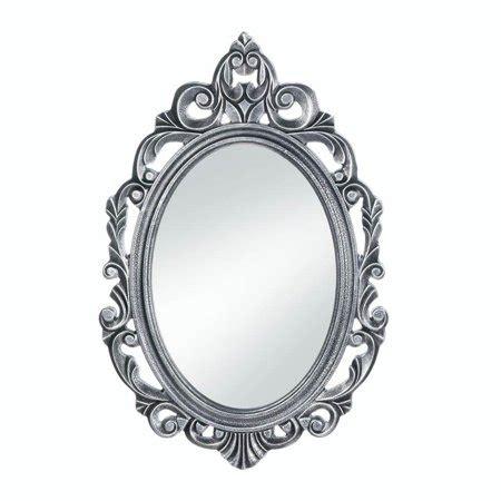 bathroom wall mirrors decorative oval rustic silver royal