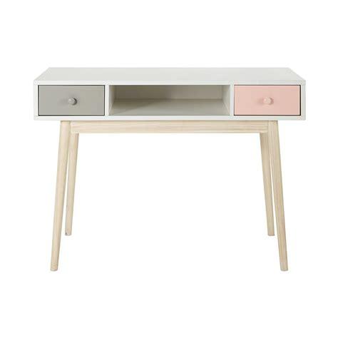 bureau maisons du monde bureau en bois blanc l 110 cm blush maisons du monde