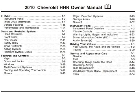 chilton car manuals free download 2010 chevrolet hhr auto manual chevrolet hhr 2010 owner s manual pdf online download