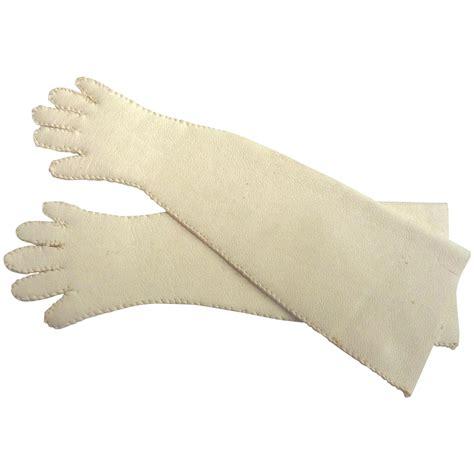 Length Backroom by Vintage Handmade Fashion Doll Leather Opera Length Gloves