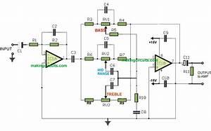 Simple Bass Treble Tone Control Circuit