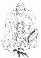 Jason Voorhees Friday Horror Coloring 13th Adult Ausmalen Freddy Sheets Drawings Chucky Freitag Jasey Halloween Dreizehnte Erwachsene Horrorfilme Monster Zum sketch template