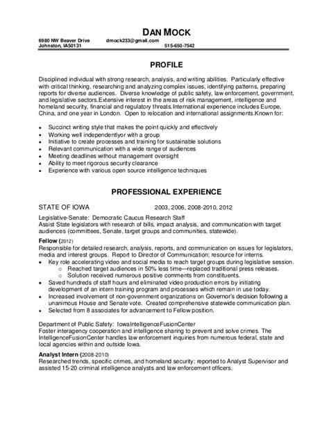 Mock Resumes by Dan Mock Resume