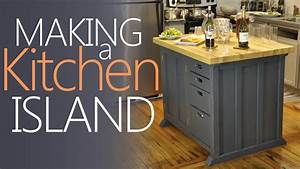 Making My Kitchen Island - With Lots Of Storage