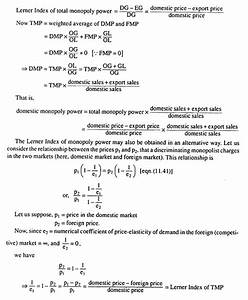 Monopoly Power  Degree  Sources And Measures