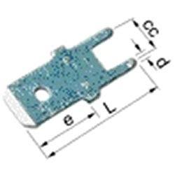 unisolierte flachstecker crimpen elpress flachstecker unisoliert 12523 zum l 246 ten 6 3 x 0 8 100 st 252 ck