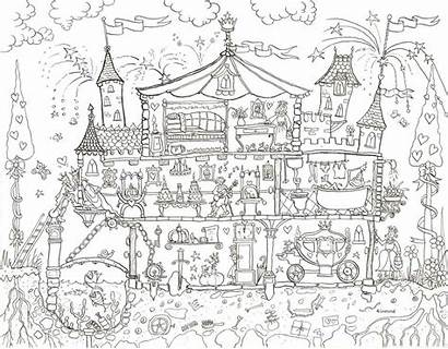 Colouring Coloring Princess Poster Palace Giant Posters