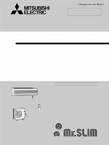 Mitsubishi Electronics Air Conditioner Ms24wn User Guide