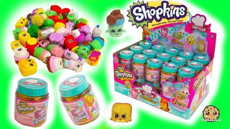 full box shopkins season 6 chef club surprise blind bag mystery jars toy video youtube
