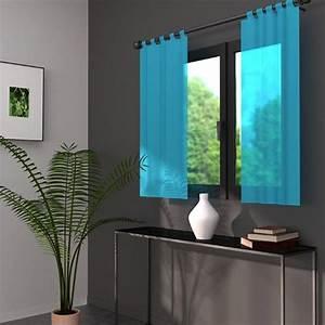 Voilage Bleu Turquoise : voilage fenetre bleu ~ Teatrodelosmanantiales.com Idées de Décoration
