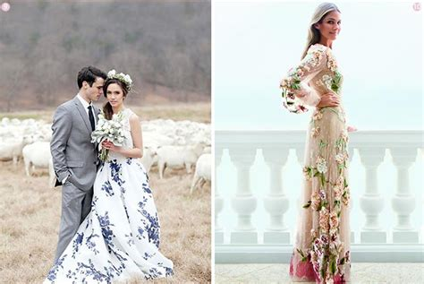 10 Floral Wedding Gowns