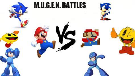 Mario Sonic Pac Man Mega Man Vs Classic Selfs Youtube