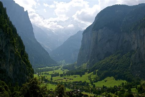 Majestic Lauterbrunnen Switzerland World For Travel