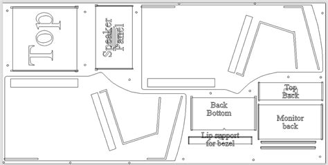 Bartop Arcade Cabinet Plans Pdf by Assembly Plywood Classic Arcade Cabinets
