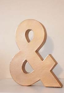 faux metal letter copper rose gold initial home room decor diy With rose gold metal letters