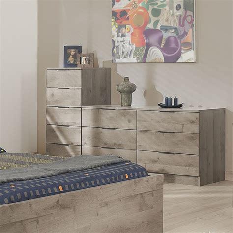 chambre complete adulte alinea chiffonnier 5 tiroirs contemporain chambre