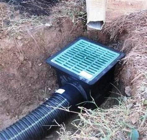 landscape drain gutter water drainage landscape drainage diy outdoor stuff pinterest landscape drainage