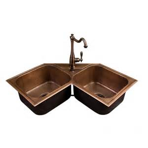bowl corner kitchen sink hammered copper bowl drop in corner sink kitchen 8798