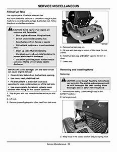 Service Miscellaneous  Filling Fuel Tank  Removing And