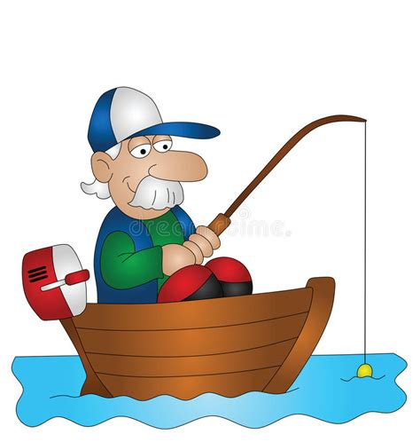 Fishing Boat Cartoon by Cartoon Angler Stock Vector Illustration Of Angling