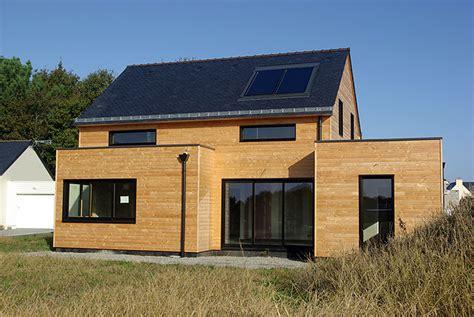 maison de bois 56 construction de maison et extension 224 ossature bois en morbihan pluneret