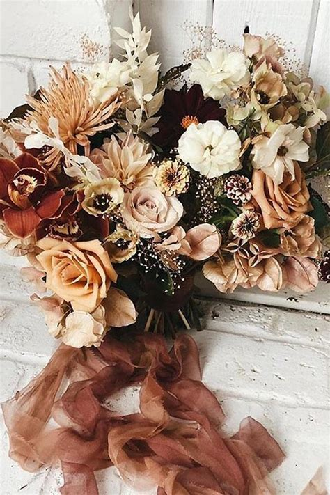 rustic rust wedding color ideas deer pearl flowers