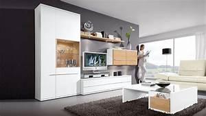 Wohnzimmermöbel Weiß Holz : diese wohnwand von loddenkemper bringt moderne eleganz in ihr wohnzimmer die m bel kombinieren ~ Frokenaadalensverden.com Haus und Dekorationen
