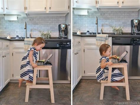 toddler kitchen stool diy makeovers that transform the ikea bekvam step stool