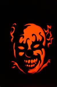 Clown Pumpkin Stencils Free by Items Similar To Evil Clown 12 Quot Foam Pumpkin W Battery