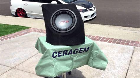 custom fiberglass subwoofer enclosure youtube