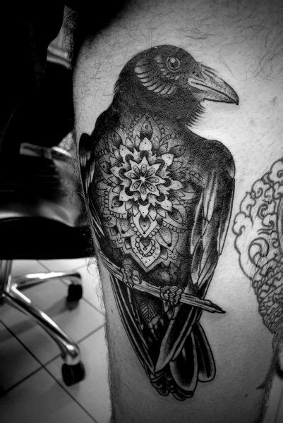Mandala raven tattoo...the face could be better and so