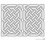 Coloring Rectangle Celtic Pages Knot Printable Adults sketch template