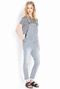 Lyst - Forever 21 Railroad Cutie Denim Overalls in Blue