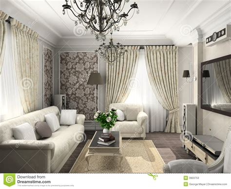living room with the classic furniture stock photos