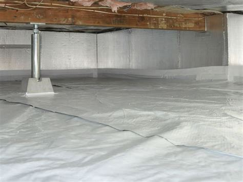 waterproofing basements with dirt floors walls vapor barrier for basement floor crawl space insulation with silverglo in california crawl space wall insulation in ventura