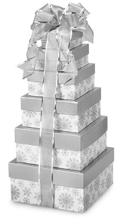 Let it Snow with Snowflake Bags, Boxes, Wrap & Ribbon