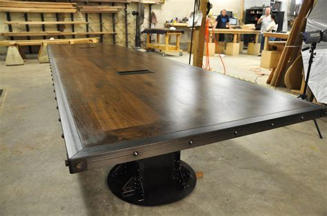 I Beam Conference Table   Vintage Industrial Furniture
