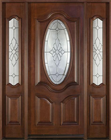 solid wood exterior doors front door custom single with 2 sidelites solid wood
