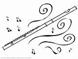 Flute Magic Coloring Pages Drawing Band Instruments Musical Notes Prezi Colouring Sheets Instrument sketch template