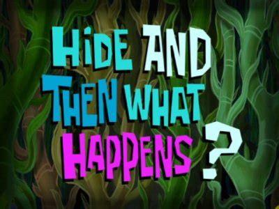 That Sinking Feeling Spongebob Transcript by Spongebob Squarepants Karate Tv Episode 2010