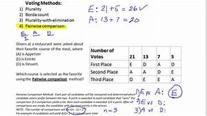 Survey Pairwise Comparison Method Of Voting Youtube
