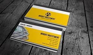Accounting & Investment Business Card Template » Free ...