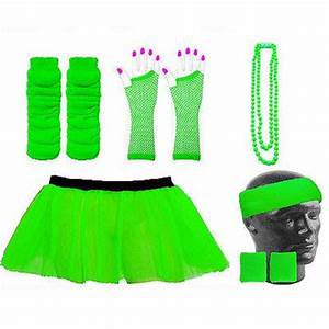 NEON TUTU SKIRT FANCY DRESS & ACCESSORIES HEN PARTY UV