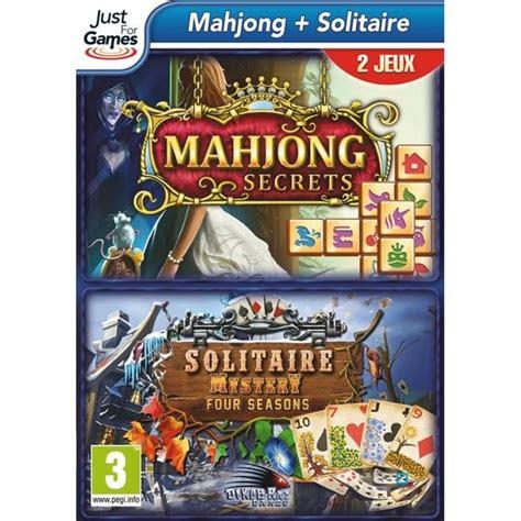 jeux mahjong cuisine coffret mahjong solitaire jeu pc achat vente jeu pc coffret mahjong solitaire pc cdiscount