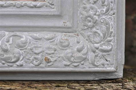 antique french ornate mirror hand painted in grey home