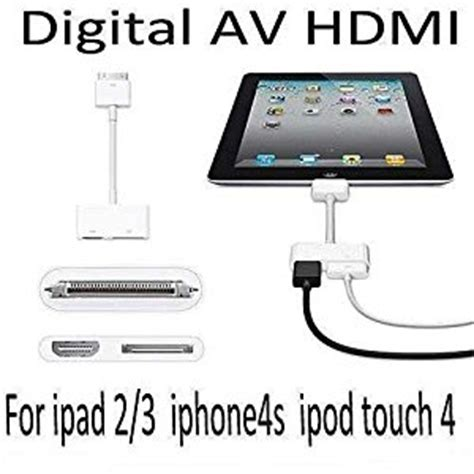 connecting iphone to tv genuine apple av digital 30 pin adapter to hdmi to connect