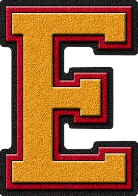 alphabets gold cardinal red varsity letter