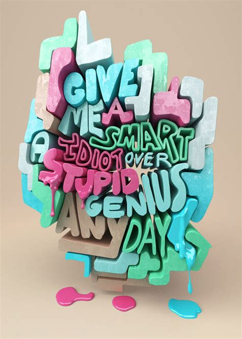 3d typography quote experiment chris labrooy partfaliaz